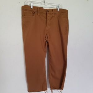 """Madewell Pants 9"""" High Rise Skinny Cropped Raw"""